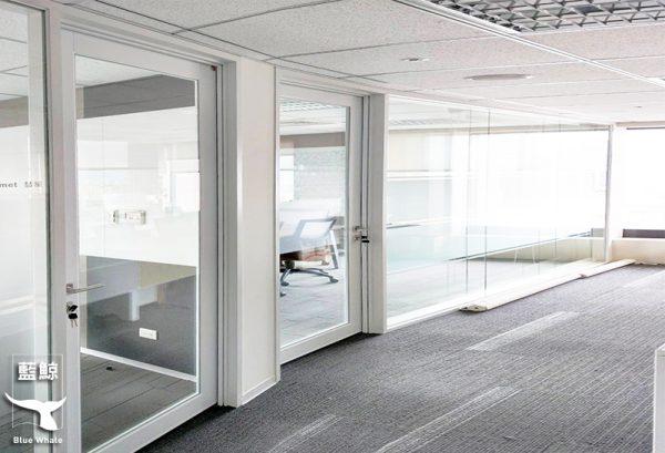 【玻璃隔音门及固定窗】DELL电脑台北办公室